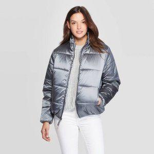 Universal Thread Silver Gray Puffer Jacket